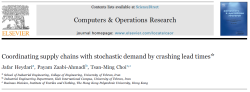 مقاله ترجمه شده هماهنگی زنجیره تامین با تقاضای احتمالی با به کارگیری مکانیزم کاهش زمان تحویل